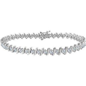 5 Ct round brilliant cut Diamond tennis bracelet